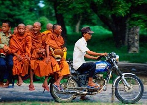 Monks in the funniest places...