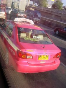 Fuschia Taxis! This is MY country ;-)