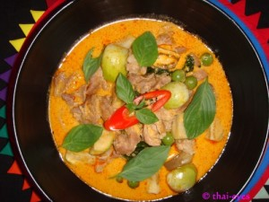Thai food, yummy but spicy...