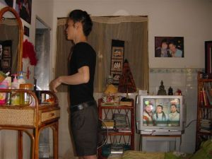 A cambodian house of a cambodian guy
