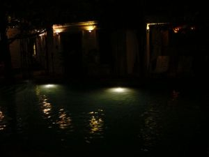The pool by night - just as nice as by day... or nicer