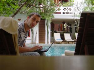 Blogging at the pool...