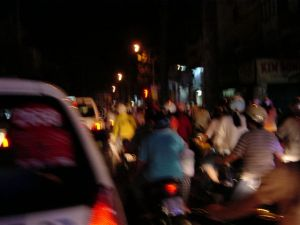 A tiny portion of traffic in Sai Gon