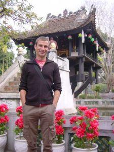 One leg pagoda - near Ho Chi Minh mausoleum