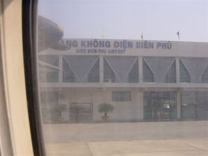 Dien Bien Phu airport - you walk from the plain to the building