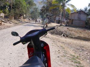 Laos - no more roads, no more helmets, no more electricity,...