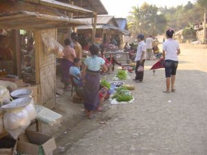 Muang Mai village - the market