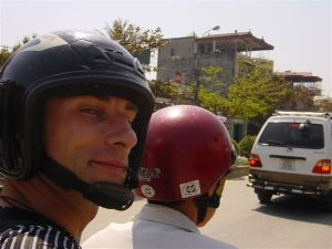 Me and my moto-racer in Dien Bien Phu