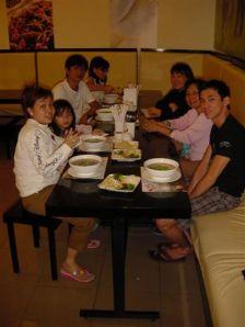 Family dinner at Pho 24