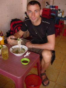 Eating in the street restaurants - mmmm
