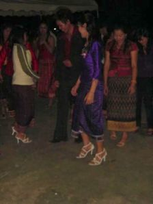 Yep, they are dancing... Lao style
