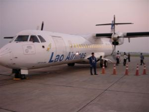 Lao Airlines propellor plane... shakey