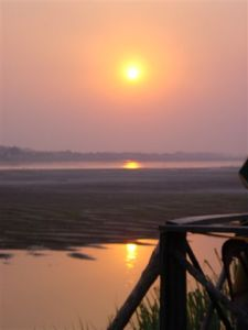Sunset over the Mekong River - Vientiane
