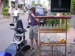 Motobikes drink Absolut Vodka in Bali...