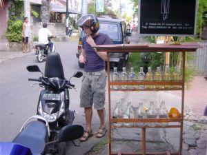 Motobikes drink Absolut Vodka in Bali...