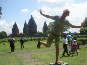 Funny statues at Prambanan - Jogja