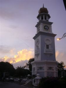 George Town clock tower at gorgeous sunset
