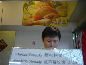 Speciality: durian pancakes, yummy