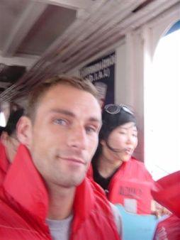 Rocky boat trip - life jackets obliged... hm