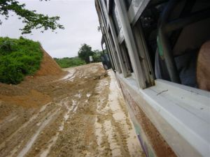 Pilipino roads in rainy season - challenging