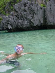 Snorkeling in the hidden lagoon