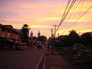 Arriving in Puerto Princesa at dusk