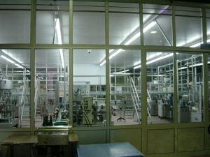 The humongous decoration (labeling) machine chamber