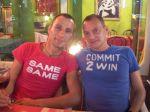 2 lovely guys in a lovely restaurant