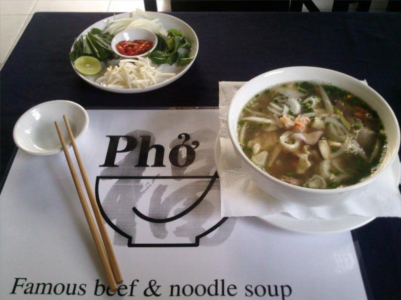Vietnamese Pho Bo beef soup